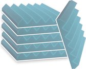 Zelfklevende geluidsisolatie   Akoestische panelen   isolatieplaten   Zelfklevende wandpanelen   Studioschuim   30 x 30 x 5 cm   0,53m2   6 stuks - Blauw