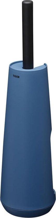 Tiger Tess Toiletborstelhouder vrijstaand met Swoop® borstel flexibel - Blauw / Zwart