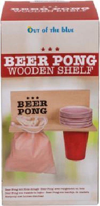Thumbnail van een extra afbeelding van het spel Beer Pong Shelf with 12 cups + 12 balls