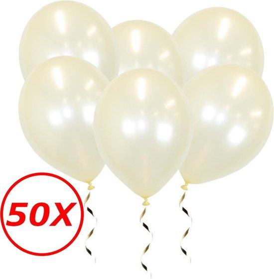 Witte Ballonnen Feestversiering Metallic Ivory Verjaardag 50st Bruiloft Ballon