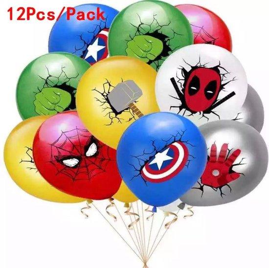Spiderman Ballonnen Versiering 12 stuks