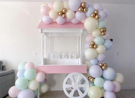 Sempertex - 50 stuks Pastel ballonnen -  Gekleurde kleuren - Helium - Latex - ballonnen - Verjaardag Versiering - Regenboog - Gender reveal - Unicorn - 100% biologisch afbreekbaar
