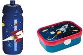 Space Mepal Lunchbox en JQ Bidon / Waterfles 500ML - schoolset - lunchset - back to school - ruimtevaart - Andre Kuipers