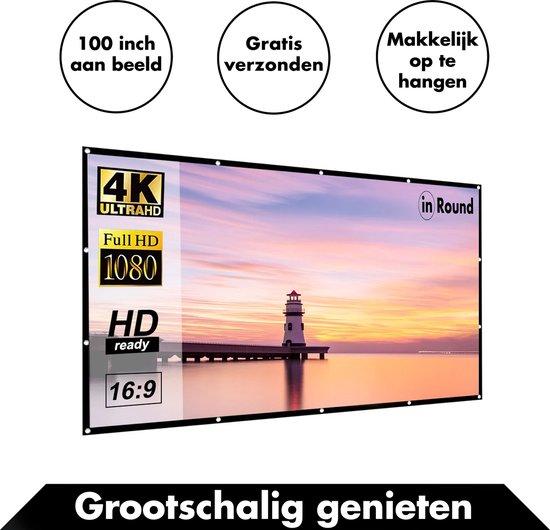 Groot Projectiescherm van In Round – 100 inch – 170° Kijkhoek – Melk Zijde –...