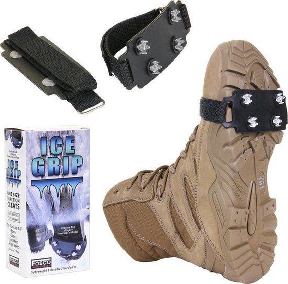 Koukleum - Ice grip sneeuwijzers voor onder de schoenen - anti slip / anti glij ijzer voor sneeuw en modder