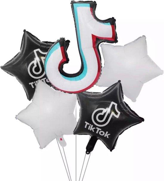 Tik tok ballon set 5 stuks folie ballon partij verjaardag decoratie set tiktok 5in1