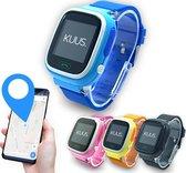 KUUS. W1 - GPS horloge kind, smartwatch voor kinderen met GPS tracker - Walkie Talkie functie - Blauw