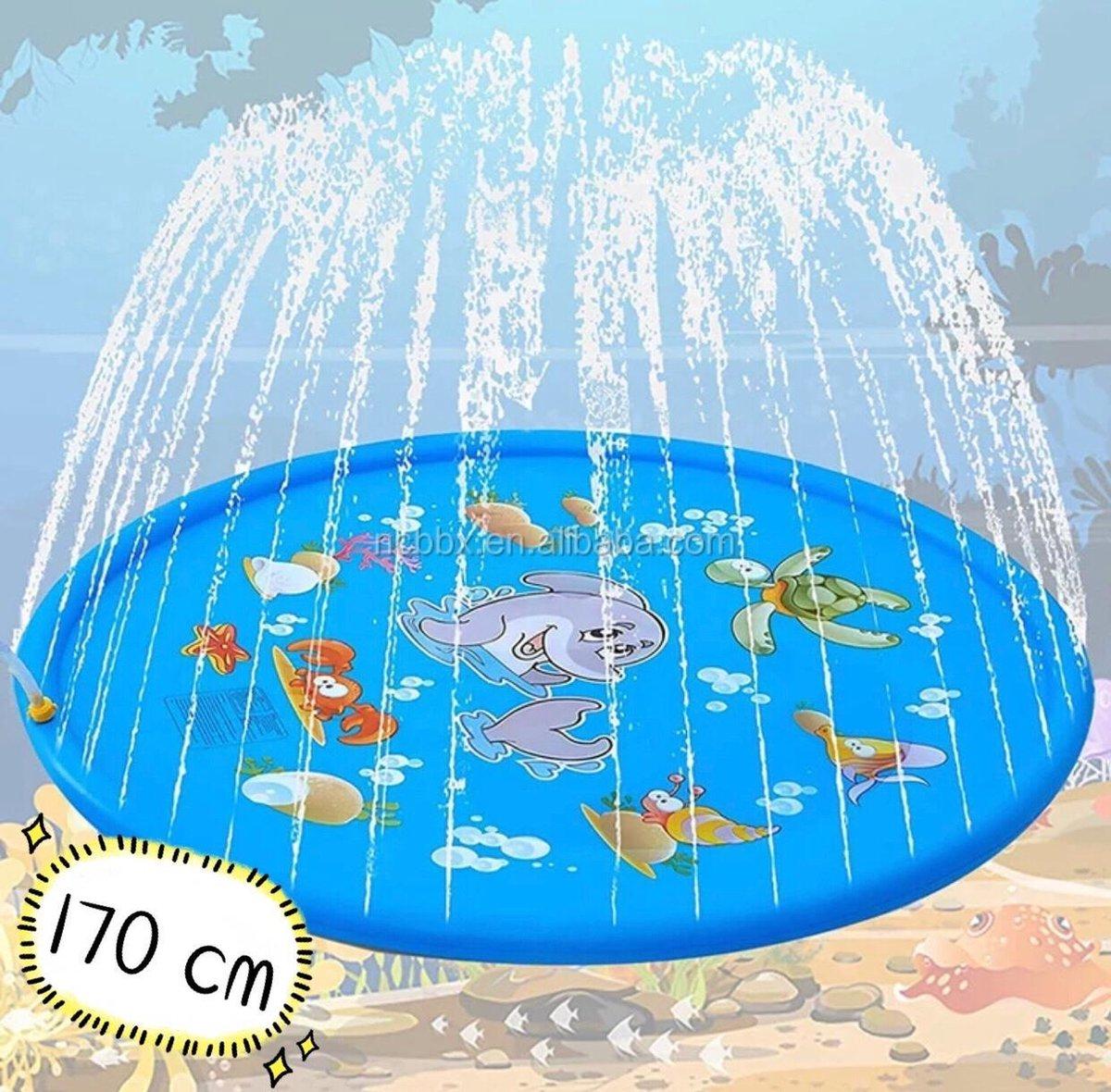 Water spray mat 170cm - water speelgoed - zomer speelgoed - opblaasbaar