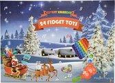 Kess® - Adventskalender Fidget toys 2021 - Fidget toys 24 stuks - Surprise Pop it! - Mystery Box