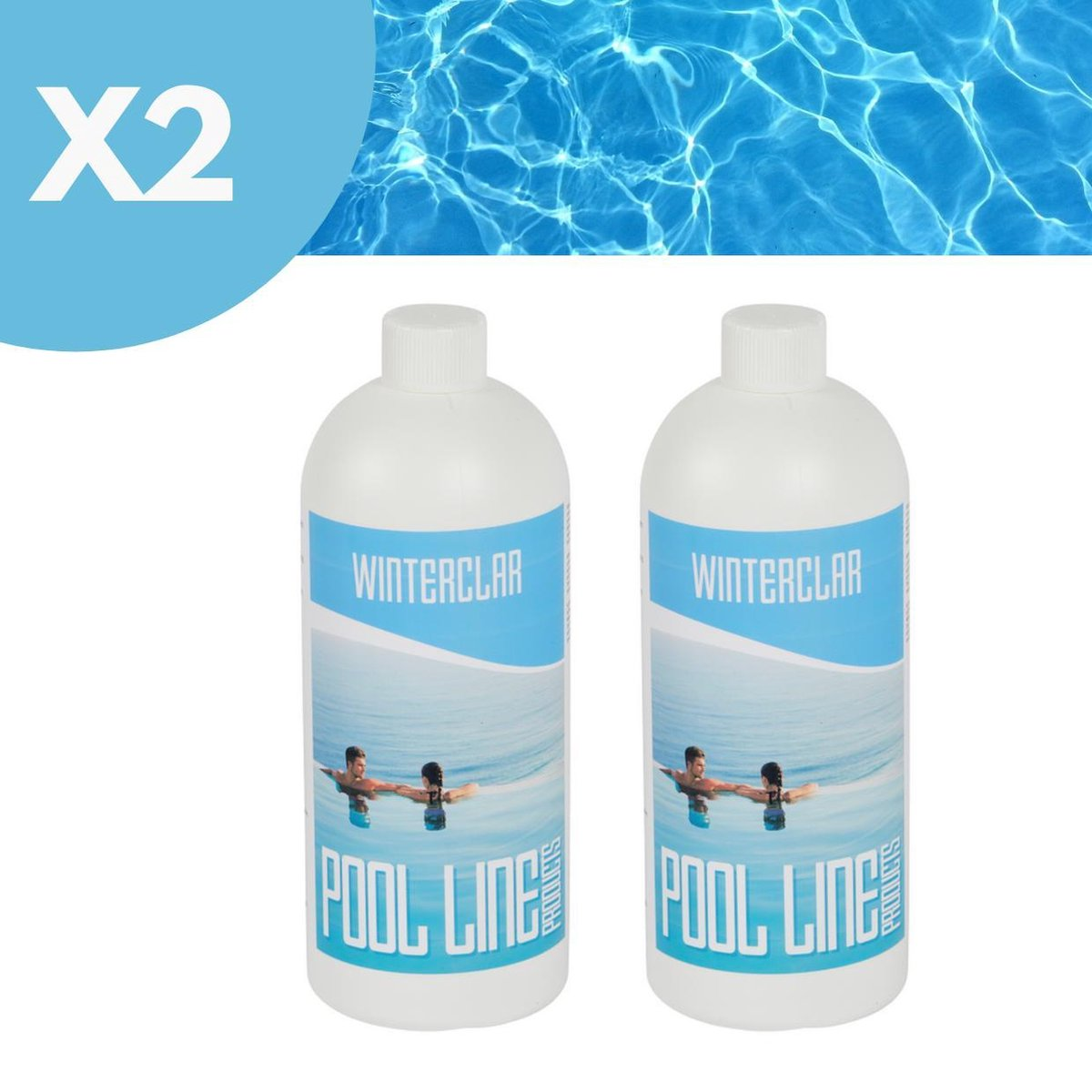 Pool Line Products - Winterclar - Winterproduct 1L - Winterklaar zwembad - Overwinteringsvloeistof zwembad - 2 Stuks