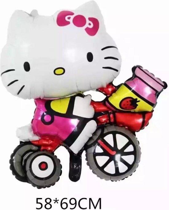 Hello Kitty  Folie Ballon  Op een Fiets 58 x69 cm