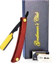 Premium Shavette  - Open scheermes met 20 double edge scheermesjes van hoogwaardig Zweeds staal - Straight Razor Incl. Shavette Scheermesjes - Barbiersmes - Klassiek scheermes - Cut throat razor klap scheermes - Safety razor| Gentlemen's Club