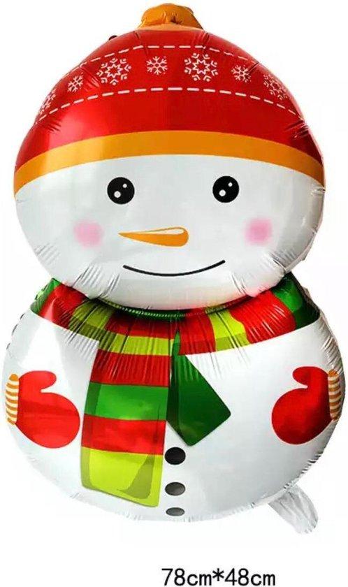 Folieballon Sneeuwpop  Kerstfeest Decoratie Ballonnen  78 X 48 Cm