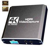 Bovadi 4K UHD Gaming Capture Card - Geschikt voor Windows, Mac, PS5, Xbox, Nintendo - Video en Audio capture card streaming - 2021 model
