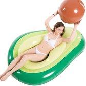 PoolTools ™ Avocado Luchtbed Inclusief Pit Bal - Opblaasbaar WaterSpeelgoed - Late Summer DEAL - Opblaasbaar ZwembadSpeelgoed - ZwembadSpeelgoed