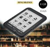 ETEBAR - E reader - Ereader - E readers beste koop - 6 inch display met hoge resolutie - Inclusief gratis ereader hoesje en gratis travelbag - e-reader 8GB