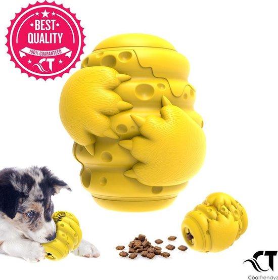 Honden Speelgoed Beer Klauwen - Interactieve Snack Dispenser Hond - Honden snackbal - Hondenvoerbal - Speelbal honden - Hond Kauwspeelgoed - Geel
