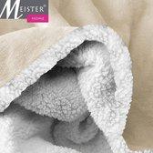 Meisterhome®  Fleece deken Plaid maat 150x200 cm  OFF White