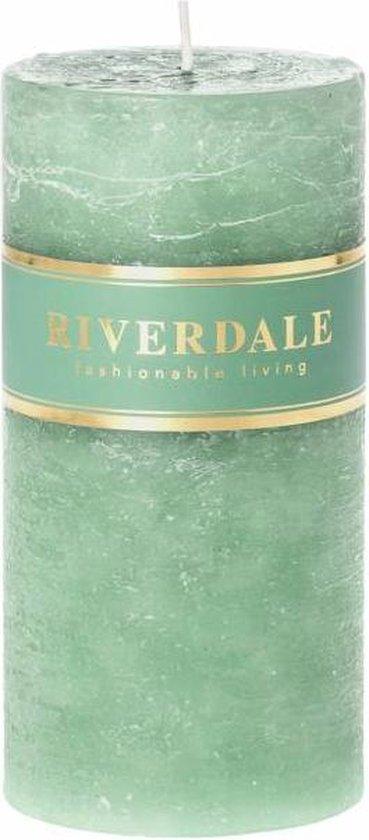Riverdale Kaars Pillar Kaars – 7×14 Cm – Groen