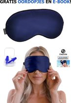 Dapoda® Zijde Verstelbare Slaapmasker – Oogmasker – Blinddoek – Nachtmasker - Zacht