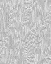 Strepen behang EDEM 82050BR52 vinylbehang gestructureerd met golvende lijnen subtiel glinsterende grijs lichtgrijs wit 7,95 m2