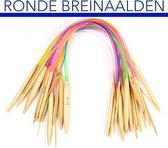 Breinaalden Set 18 stuks Rondbreinaalden Bamboe 2.0 MM 2.25 MM 2.5 MM 2.75 MM 3.0 MM 3.25 MM 3.5 MM 3.75 MM 4.0 MM 4.5 MM 5.0 MM 5.5 MM 6.0 MM 6.5 MM 7.0 MM 8.0 MM 9.0 MM 10.0 MM