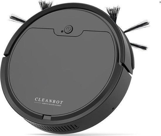 CleanBot Robotstofzuiger - Inclusief App en Dweilfunctie - Zwart