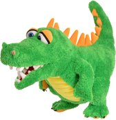 Living puppet handpop krokodil 28cm buikspreekpop kinderfeestje