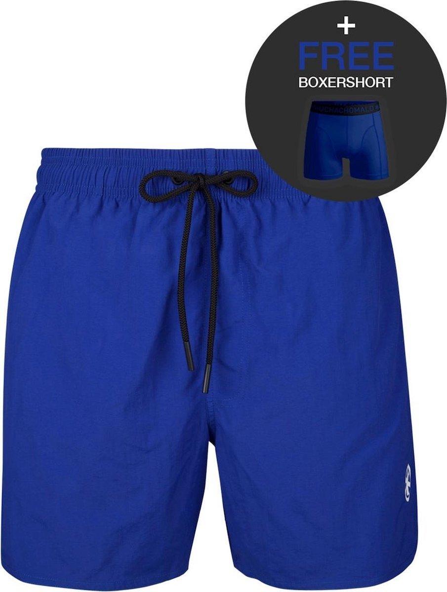 Muchachomalo jongens rits zwemshort basic blauw IV - 176