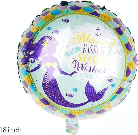 Folieballon zeemeermin paars 40cm, kindercrea