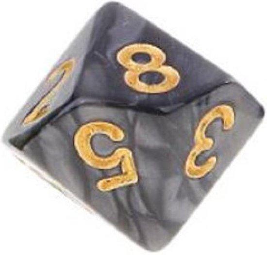 Thumbnail van een extra afbeelding van het spel 10-Kantige Dobbelsteen (SET van 10 STUKS) - D10 - Zwart Goud - Hoge Kwaliteit - 10 Zijdige Dobbelsteen - Stipco