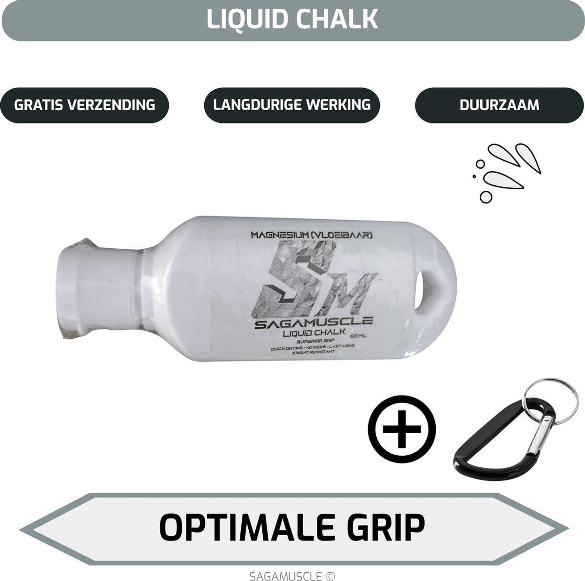 Sagamuscle Vloeibaar Magnesium 50ml - Calisthenics - Klimmen - Paaldansen - Turnen - Crossfit - Gewi
