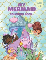Mermaid Kids Coloring Book For Ages 4-8