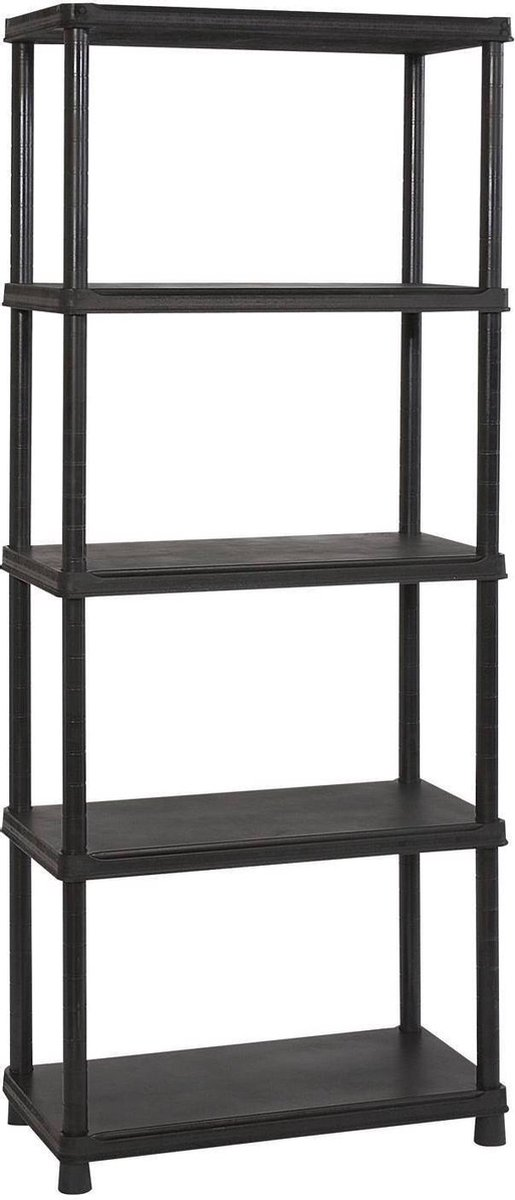 Keter Plus shelf 80/5 - 5  Planken - 80x40x187 cm - zwart