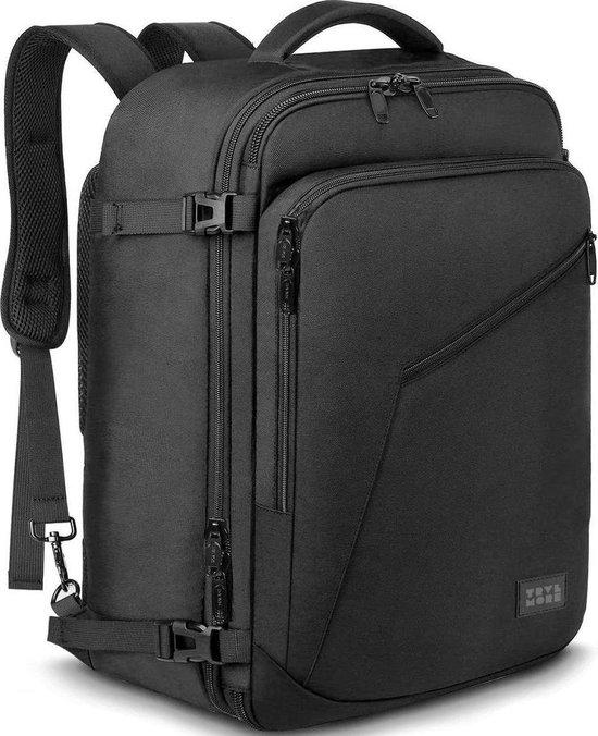 TravelMore Reistas - Rugzak - Handbagage Weekendtas - Backpack - Waterafstotend - 40L - Zwart