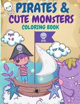 Pirates and Monsters Coloring Book For Kids
