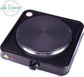 Kookplaat | Kookplaat elektrische | Kookplaat vrijstaand | kookplaatje | Elektrische kookplaat 1 pits | Elektrische fornuis | Zwart | 1 pits | 1000W | Able & Borret