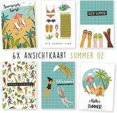 Kimago.nl - wenskaarten - kaartenset - ansichtkaarten - vakantie - zomer - summer 02 - 6 stuks