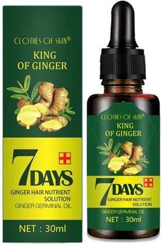 Haarserum 7days   Haarkuur 7daags   Haaruitval bestrijden   Gember extracten voor stimuleren haargroei   Haar olie   Bewezen formule