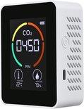 Qualitá CO2 meter - Hygrometer - Luchtvochtigheidsmeter - Oplaadbaar,  Luchtkwaliteitsmeter - CO2 meter binnen - CO2 melder & monitor - Thermometer - CO2 detector - Koolstofdioxide meter - draagbaar en oplaadbaar