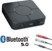 Phannie 2 in 1 Bluetooth Receiver & Transmitter - Stream Station - Audio Adapter - BT 5.0 - 3.5mm AUX/RCA - Zender - Ontvanger - Met Microfoon - HD Geluid - Handsfree Bellen - Laptop - Autoradio - TV - Speaker