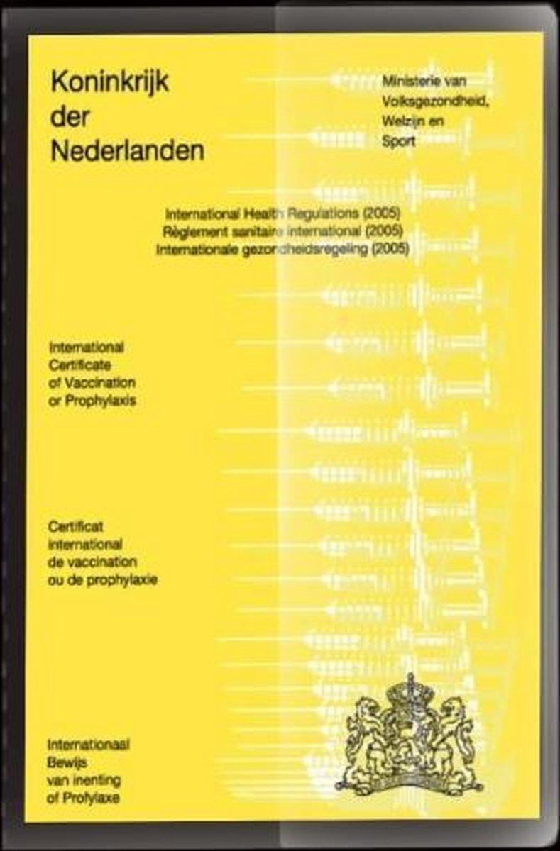 vaccinatiepaspoort hoesje - Omslag gele inentingsboekje - hoesje voor inentingspaspoort - omslag voo