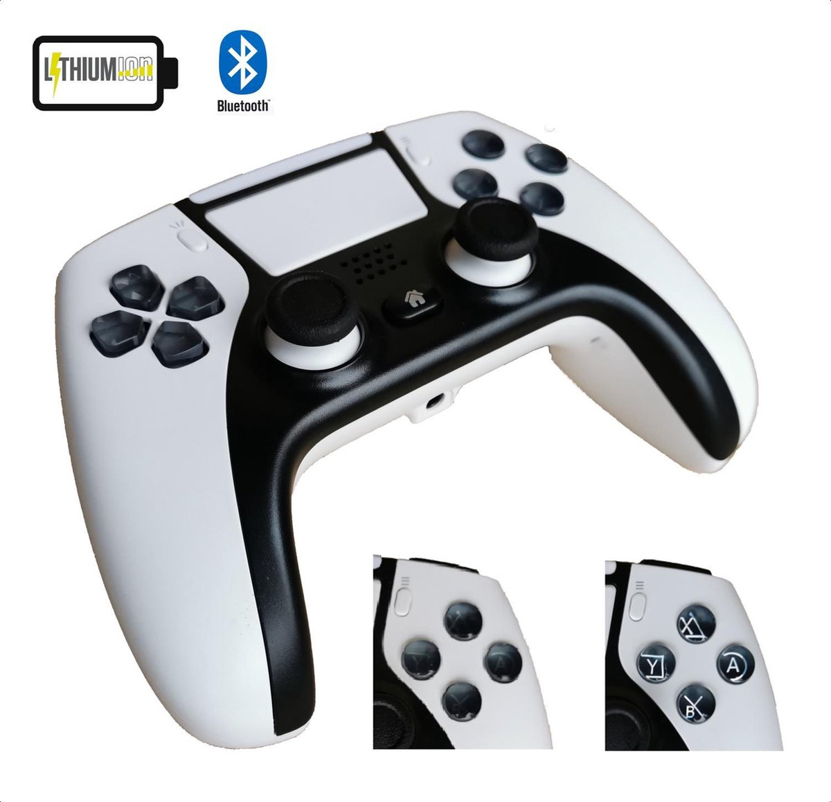 PREMIUM – PS4 / PC Controller — Draadloos — Wit — PlayStation 5 Design