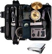 Professionele XL Ultimate Outdoor Survival Gear Kit - SOS/EDC Emergency Set - 12-Delig Tools Pakket