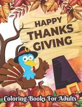 Happy Thanksgiving Coloring books for adults