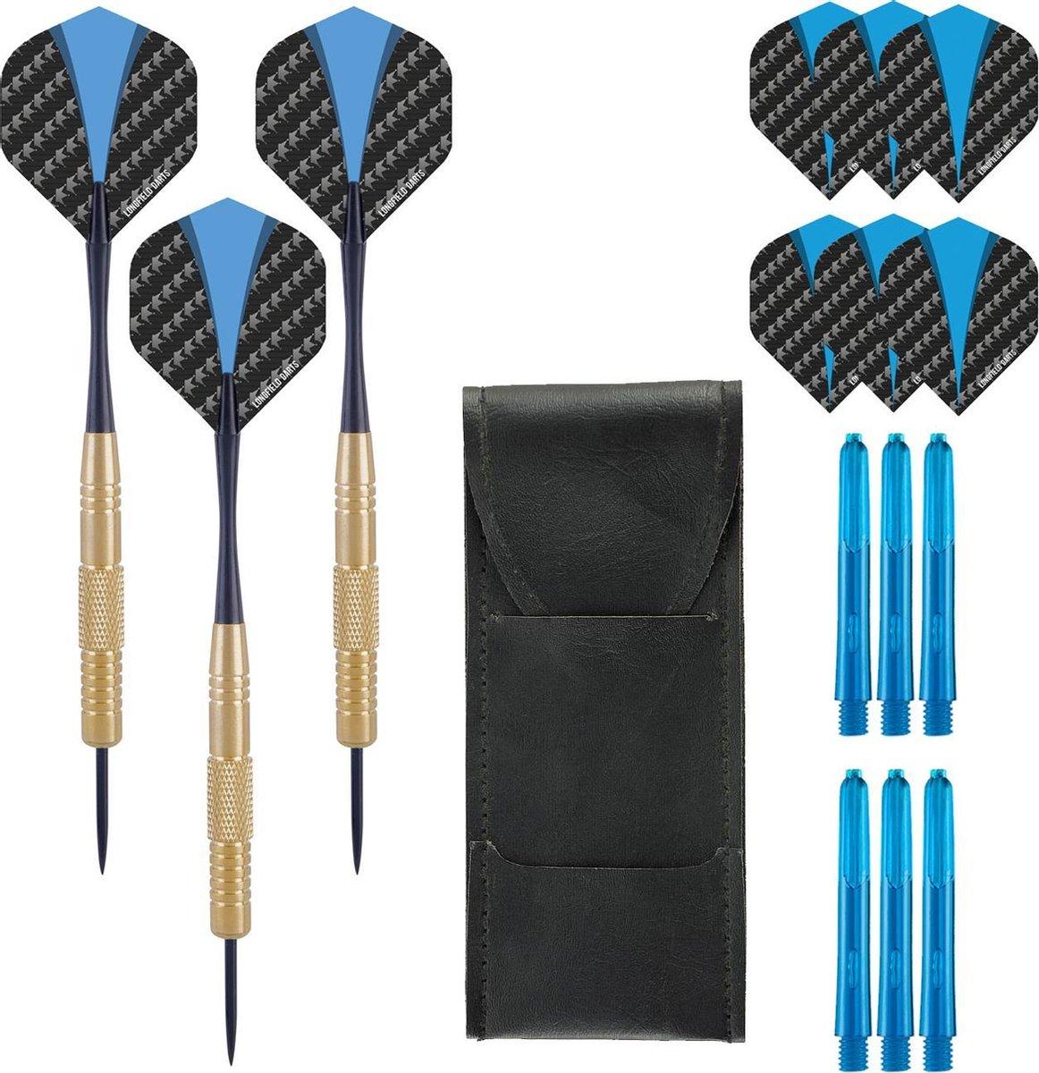 Dragon Darts GoldenEye - dartpijlen - inclusief - dart shafts - dart flights - dartpijlen 22 gram - 100% brass