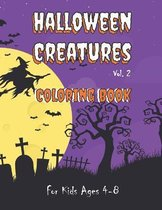 Halloween Creatures Coloring Book for Kids Ages 4-8