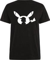 Pokémon T-shirt zwart Ash & Pikachu maat L