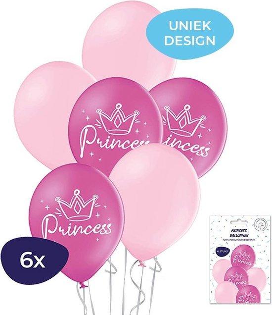Prinses ballonnen - Princess ballonnen – Helium ballonnen - Prinses versiering - Roze ballonnen - Verjaardag versiering - 6 stuks