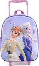 FROZEN Anna & Elsa 3D Trolley Rugzak Rugtas School Vakantie Logeren 2-5 Jaar